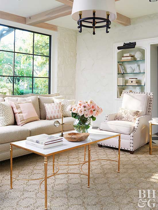 Genial Muted Living Room Decor BHG